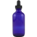 blue eye dropper bottle