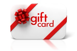 gift card with ribbong and bow