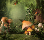 Fantasy Picture of Nature Mushrooms and things that can cause allergies