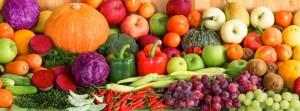 organic fruits and veggies