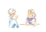 2 women talking about Reiki treatments