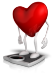 red heart balancing on a scale alkaline