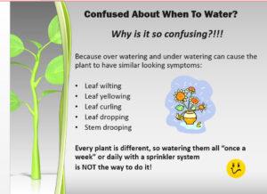 slide from gardening classes