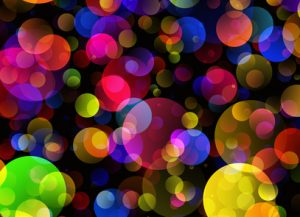 colorful bubbles sparkelize
