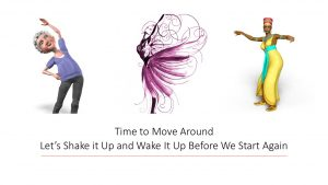 Nancy's Novelty Infographics - an African dancer, ballet dancer, and oler woman - exercising